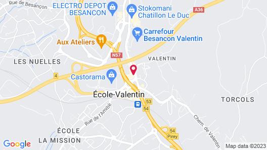 Hotel Campanile Besancon Nord - Ecole Valentin Map