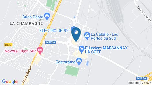 hotelF1 Dijon Sud Map