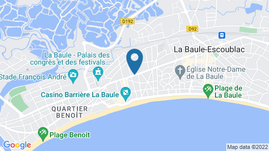 Hôtel des Dunes Map