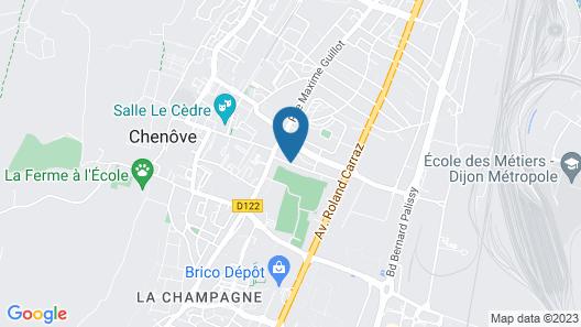 Chambres d'Hôte Dijon Clair de Lune Map