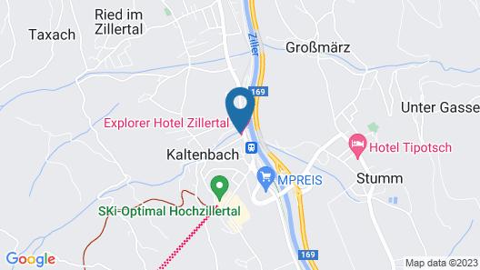 Explorer Hotel Zillertal Map
