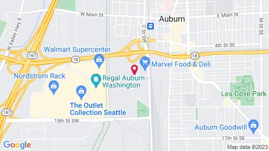 Best Western Plus Mountain View Auburn Inn Map