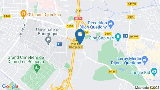Kyriad DIJON EST - Mirande Map