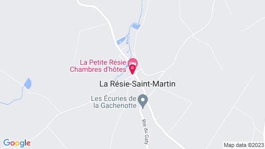 Chambres d'hôtes La petite Résie Map