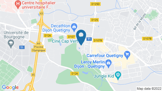 Best Western Dijon Quetigny Map
