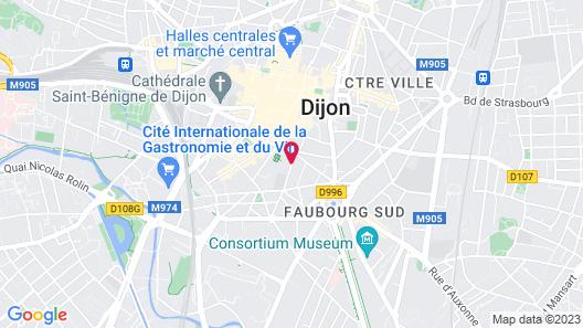 Odalys City Dijon Les Cordeliers Map