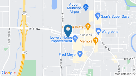 Red Lion Inn & Suites Auburn Seattle Map