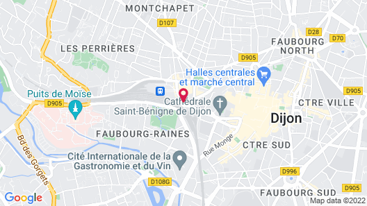 Hotel Kyriad Dijon - Gare Map