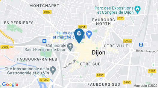 B&B Hotel Dijon Centre Map