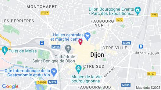 ibis Styles Dijon Central Map