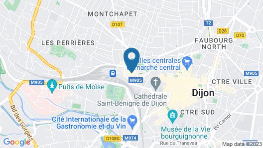 Hôtel Oceania Le Jura Dijon Map