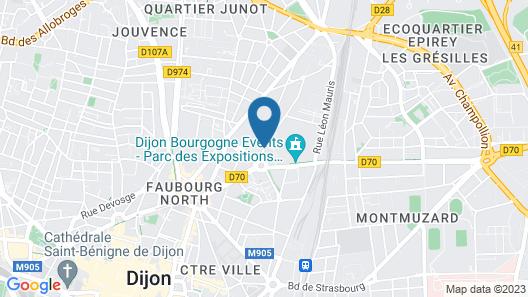 ibis Dijon Centre Clemenceau Map