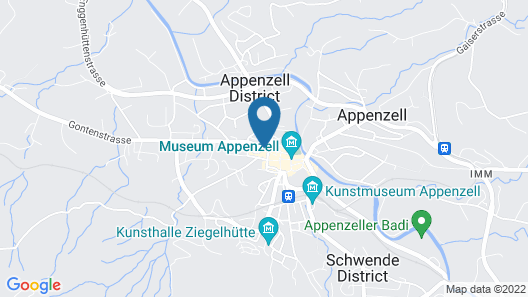 Hotel Appenzell Map