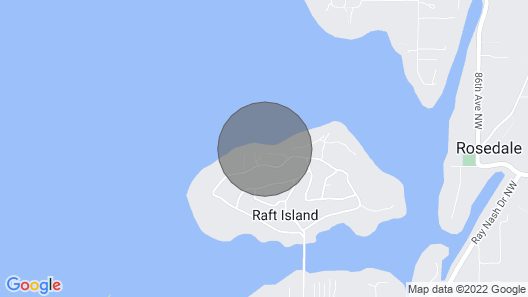 Beautiful Private Raft Island Waterfront Cabin Map