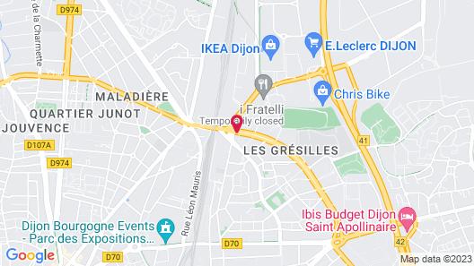 Ethic Etapes Dijon Map