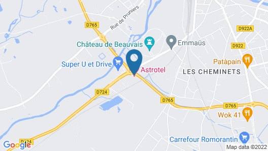Astrotel Map