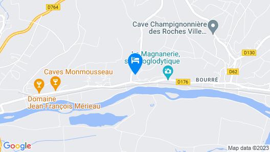 Chambre d'hôtes - Les Vernes Map