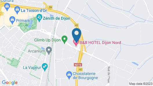 Première Classe de Dijon Nord - Zénith Map