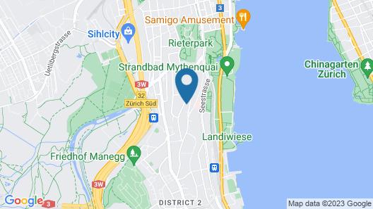 VISIONAPARTMENTS Zurich Bellariastrasse Map