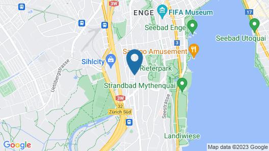 VISIONAPARTMENTS Zurich Waffenplatzstrasse Map