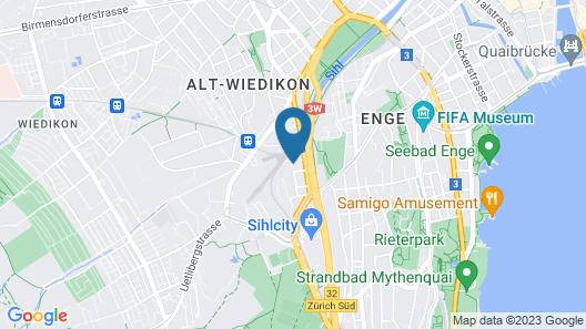 VISIONAPARTMENTS Zurich Wolframplatz Map