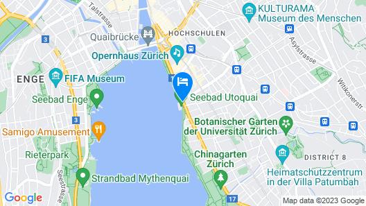 AMERON Zürich Bellerive au Lac Map