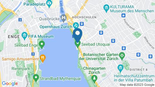 La Réserve Eden au Lac Zurich Map