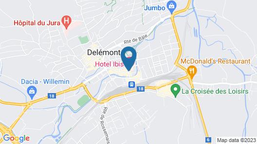 ibis Delemont Delsberg Hotel Map