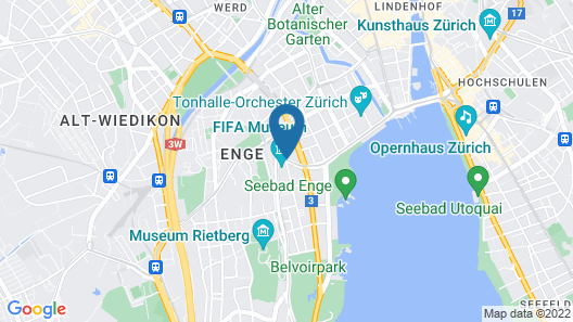 Hotel Ascot Map