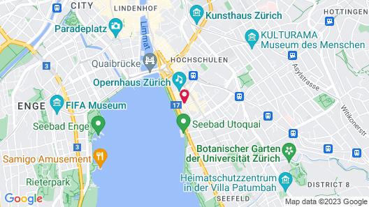 Opera Hotel Zurich Map