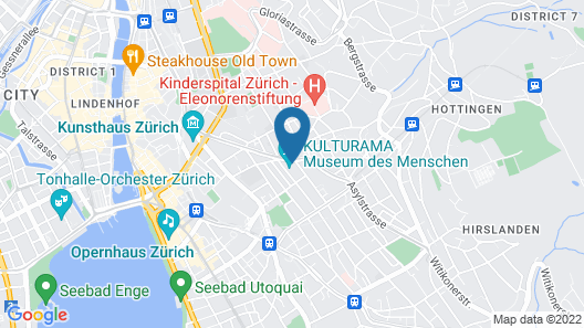 9minutes From ZH Main Station / Spacious / Modern / Surrounded BY Restaur Map