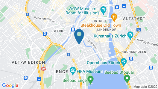 Motel One Zürich Map