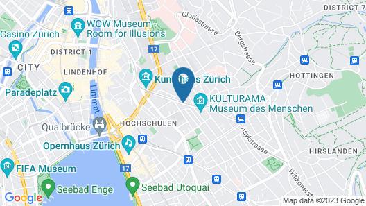 Hotel Hottingen Map