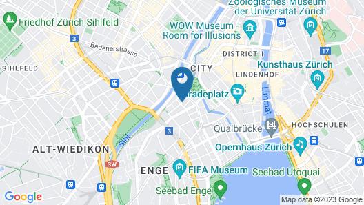 VISIONAPARTMENTS Zurich Gerechtigkeitsgasse Map