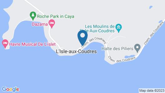 Hôtel Motel Les Voitures d'Eau Map