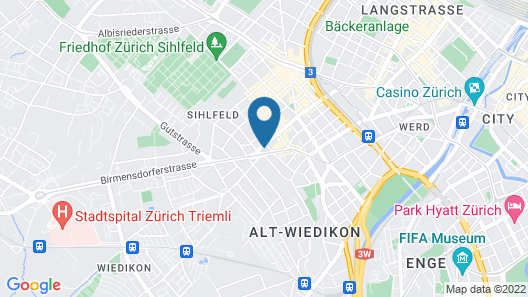 VISIONAPARTMENTS Zurich Rotachstrasse Map