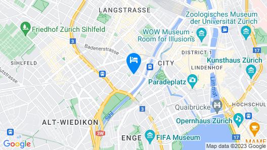 Apartments Swiss Star Aussersihl Map