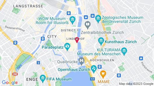 Storchen Zurich Map
