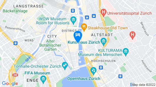 Storchen Zurich Map