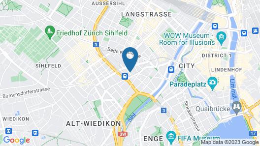 VISIONAPARTMENTS Zurich Freyastraße Map