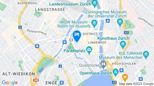citizenM Zürich Map