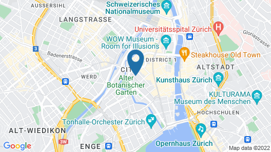 citizenM Zürich Map