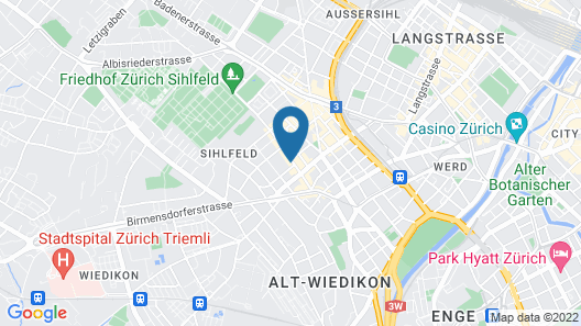 Homestay Zurich center Map