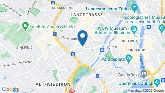 VISIONAPARTMENTS Zurich Zweierstrasse Map