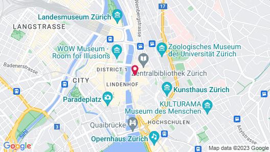 Hotel Adler Zürich Map