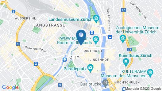 Hotel City Zürich Design & Lifestyle Map