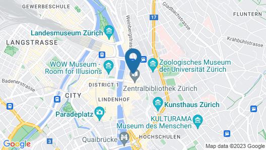 Best Western Plus Hotel Zürcherhof Map