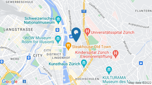 Hotel St Josef Map