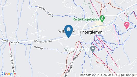 Appartement Zwölferkogel Map