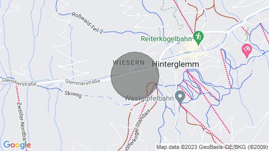 Hinterglemm: comfortable modern apartment in Alpine More Appartmenthaus Map